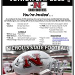 2013 Nicholls State University Football Junior Day_Page_1